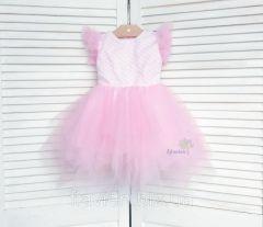 Святкове плаття для дівчинки (світло-рожеве), Flavien 7026-1
