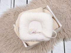 Подушка з тримачем для пустушки, Бежеві смужки, MagBaby 130278