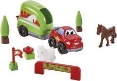 """Конструктор """"Швидкісне авто. Фургон для перевезення коней"""", Ecoiffier 3347"""