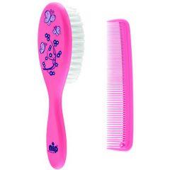 Набір щітка і гребінець для волосся (рожева), Nip 37075