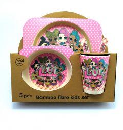 """Набір дитячого посуду з бамбукового волокна """"L.O.L Surprise"""" (5 ел.), Bamboo"""