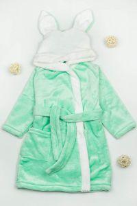 Плюшевий халат для дитини (ментоловий), g-12422-v