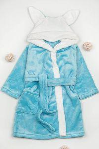 Плюшевий халат для дитини (блакитний), g-12422-v