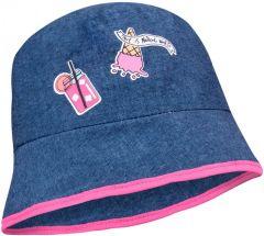 Бавовняна панама для дівчинки (синя), YoClub CKA-204