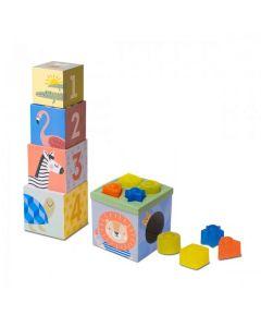 Розвиваючий сортер- пірамідка - Кубики Африка, Taf Toys 12725