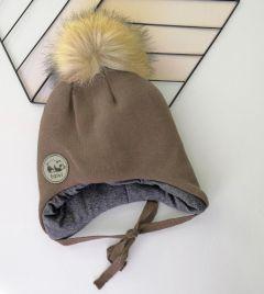 Трикотажная шапка для ребенка (коричневая), Talvi 00779