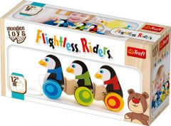 """Розвиваюча дерев'яна іграшка-каталка """"Пінгвіни"""", Trefl 60922"""