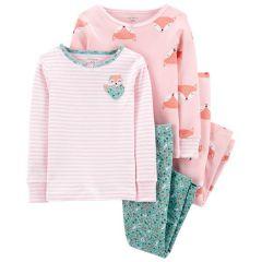 Трикотажна піжама 1шт. (рожева з принтом)