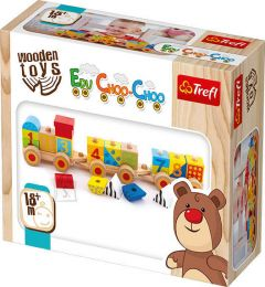 """Інтерактивна дерев'яна іграшка """"Поїзд"""", Trefl 60930"""