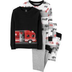 Трикотажна піжама для хлопчика 1шт. (у смужку з принтом)