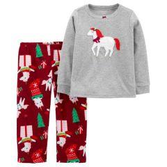 Флісова піжама для дівчинки