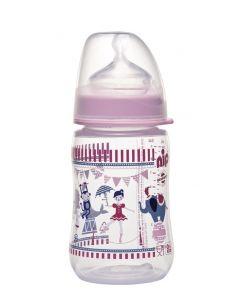 """Пляшечка для годування """" Цирк"""" 260 мл., Nip 35042"""