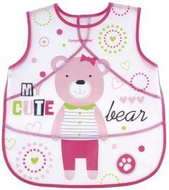 Фартух-слинявчик з кишенею - рожевий, Canpol Babies 9 / 236_pin