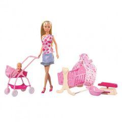 Лялька Штеффі з немовлям Steffi Love, 105730861