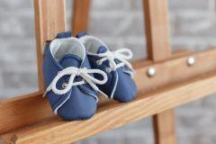 Бавовняні пінетки для малюка (сині), 1059
