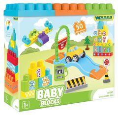 """Конструктор Baby Blocks """"Мої перші кубики"""" (50 ел.), Wader 41450"""