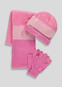 Комплект-трійка (шапка, шарф, рукавиці)