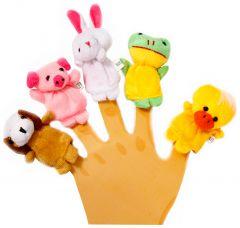 Набір іграшок на пальці (свійські тварини), Lindo Р 266