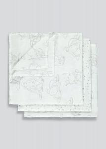 Набір ситцевих пеленок (3 шт) ,Disney