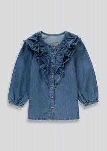 Легка джинсова туніка для дівчинки