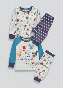 Трикотажна піжама для хлопчика 1шт. (реглан з синіми рукавами і штани у смужку)