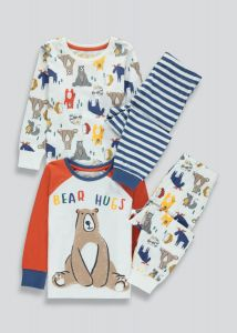 Трикотажна піжама для хлопчика 1шт. (біла в принт)