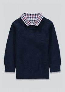 Джемпер з імітацією сорочки для хлопчика