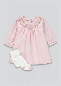 Коттонове плаття з колготками для дівчинки