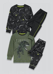 Трикотажна піжама для хлопчика 1шт. (чорна з принтом)
