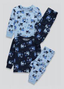 Трикотажна піжама для хлопчика 1шт. (блакитна з принтом)