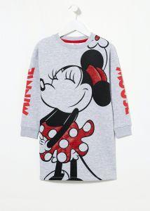 """Трикотажное платье """"Minnie Mouse"""" внутри с флисовой байкой"""