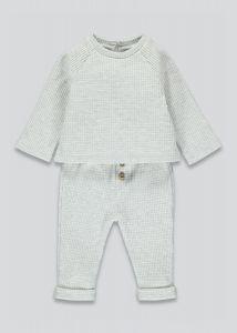 Комплект-двійка з трикотажу вафельного плетіння для дитини