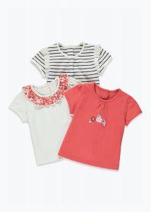 Набір футболок для дівчинки (3 шт.)