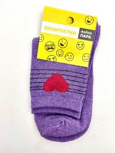 Трикотажні шкарпетки для дитини (фіолетові), Duna, 4029