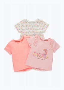 Набір яскравих футболок для дівчинки (3 шт.)