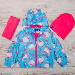 Тепла вітрівка з флісовою підкладкою ( + шапка та шарф)