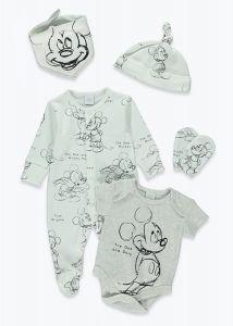 """Красивий комплект для новонародженого (5 позицій) """"Mickey Mouse"""""""