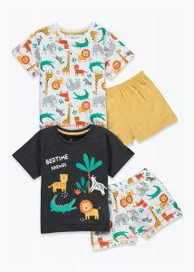 Піжама для хлопчика 1шт. (темно-сіра футболка та жовті шорти)