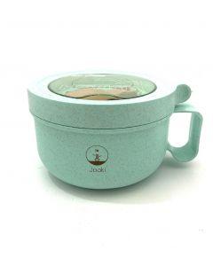 Ланчбокс супниця в формі чашки (ложка в комплекті), бірюзовий 850 мл, 127