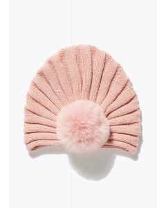В'язана шапка-тюрбан для дівчинки