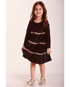 Велюрове плаття з рюшами для дівчинки, 11691