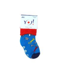 Махрові шкарпетки з протиковзкими вставками, YOclub SKF-ABS