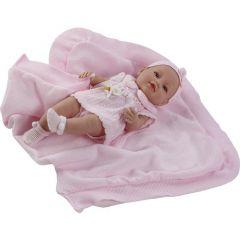 Лялька вінілова новонароджена з пледом (42 см), 5100R, Berbesa