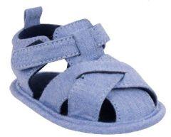 Пинетки-сандали для мальчика, голубые OB-104