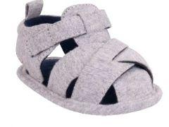 Пинетки-сандали для мальчика, серые OB-104