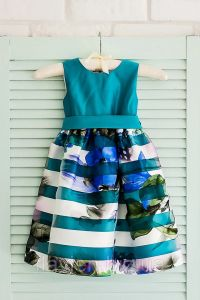 Святкове плаття для дівчинки (темно-бірюзове), Flavien 7022