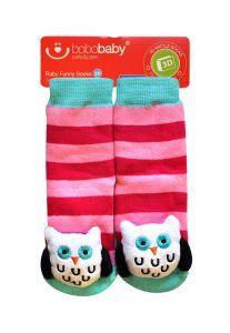 Шкарпетки з 3D нашивкою сови, 12-24 міс., BS-41, BoboBaby