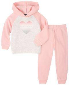 Теплий костюм з флісовою байкою для дівчинки Calvin Klein