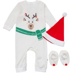 Новорічний комплект-трійка для малюка (молочний), 1830003