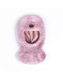 Трикотажна балаклава з флісом для дитини, Talvi (рожевий меланж) 01651